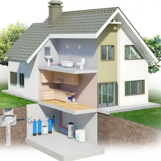 Частный дом. Очистка воды из скважины